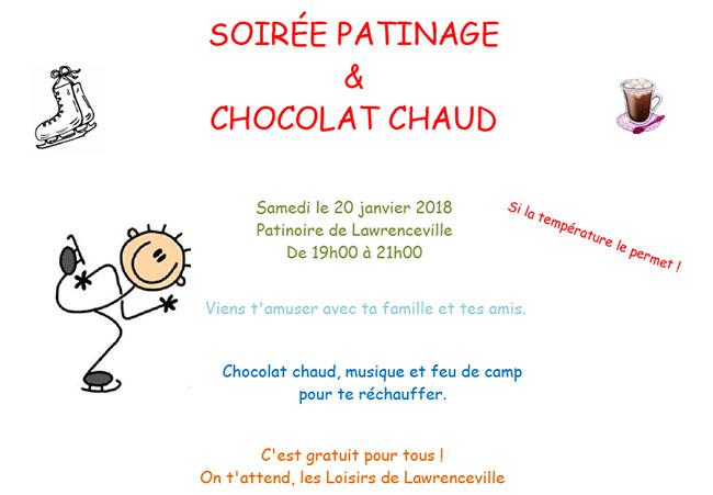 Patinage chocolat chaud 2018