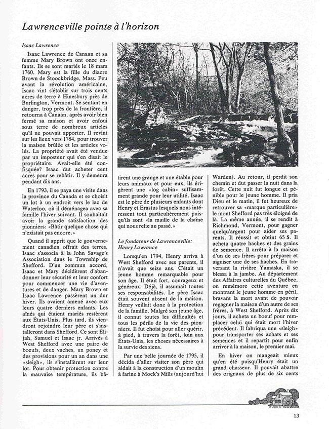 Histoire de Lawrenceville page 1