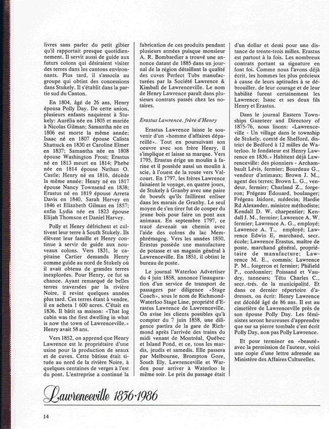 Histoire de Lawrenceville page 2