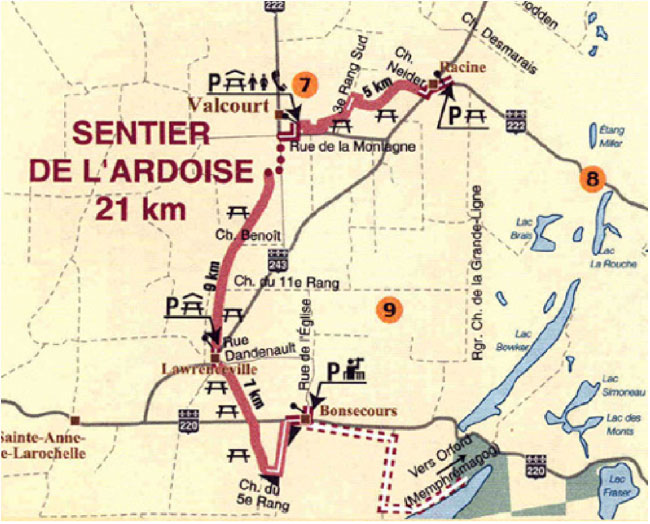 Plan Sentier de l'Ardoise